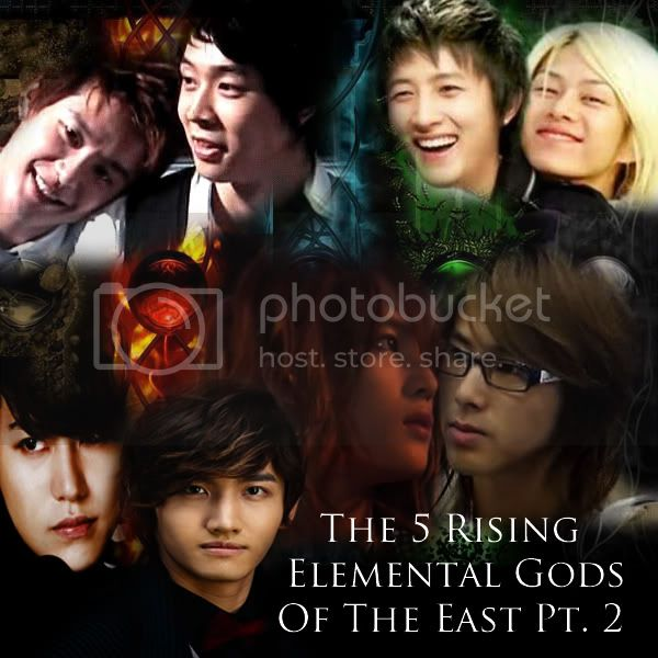 The 5 Rising Elemental Gods Of The East Part Two - changkyu dbsk superjunior yoosu yunjae mpreg nuest - main story image