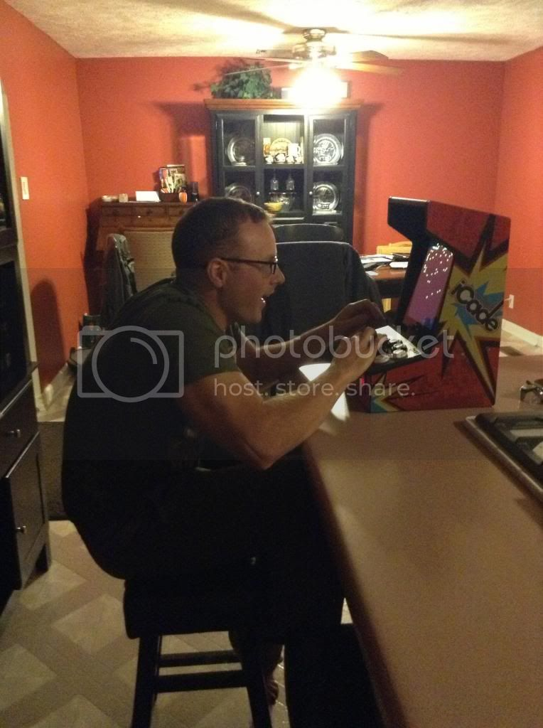 Me Playing iCade